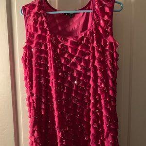 Sparkly Pink Dressy Tank